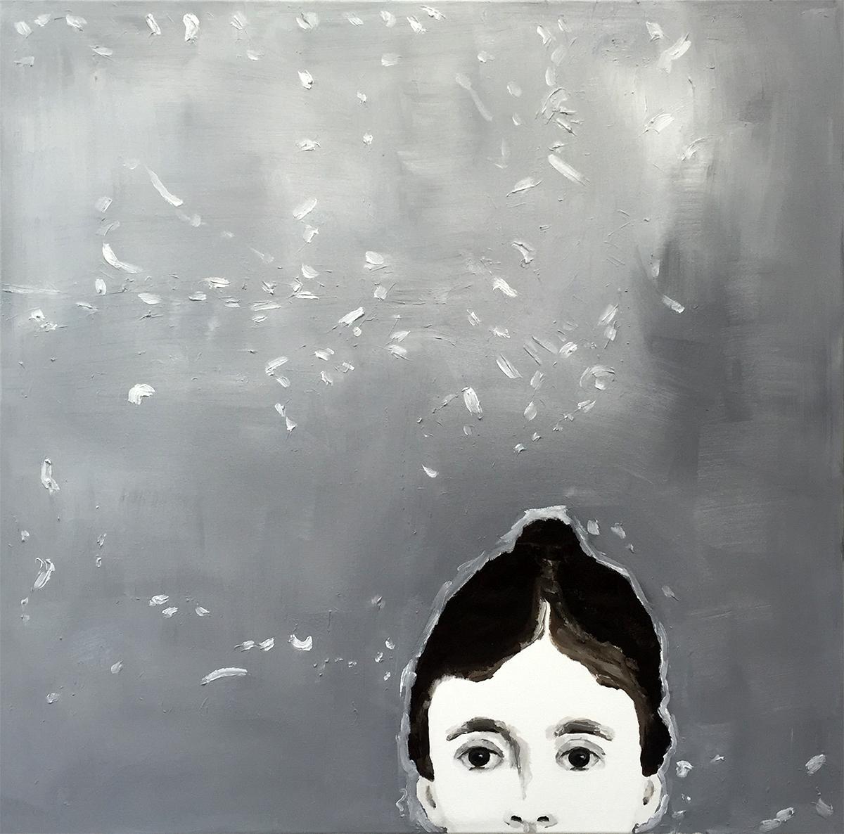 Ohne Titel | 100 x 100 cm | ---- | Öl auf Leinwand